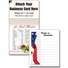 Magnetic Business Card Note Pad - Flag