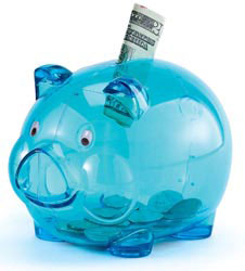 Custom imprinted Translucent Piggy Bank