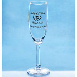 Custom imprinted Champagne Flute Glass