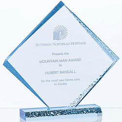 Custom imprinted Diamond Ice Award