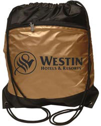 Custom imprinted Metro Backsack Gold