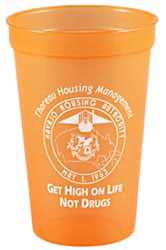 Custom imprinted 16 oz. Translucent Stadium Cup