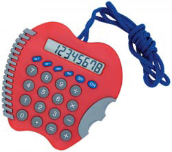 Custom imprinted Apple Calculator with Cord