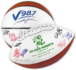 Custom imprinted Full Size Signature Basketball