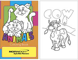 Custom imprinted Animals Coloring Book