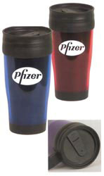 Custom imprinted 16 oz. Translucent Tumbler