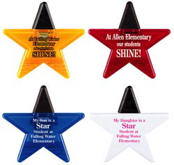 Custom imprinted Star Magnetic Clip