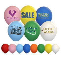 Custom imprinted Latex Balloons Standard Colors 9