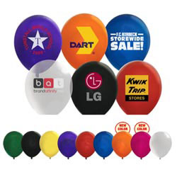 Custom imprinted Latex Balloons Crystal Colors 9