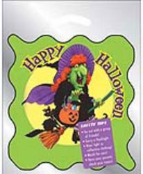 Custom imprinted Metallic Silver Witch Happy Halloween Bag