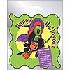 Metallic Silver Witch Happy Halloween Bag