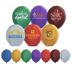 Custom imprinted Latex Balloons Metallic Colors 9
