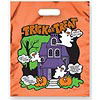 Metallic Orange Haunted House Trick or Treat Bag