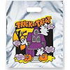 Metallic Silver Haunted House Trick or Treat Bag