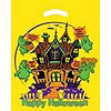 Yellow Die Cut Haunted House Trick Or Treat Bag