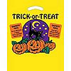 Yellow Die Cut Cat and Pumpkin Design Trick Or Tre
