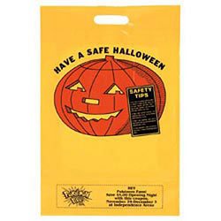 Custom imprinted Yellow Die Cut Pumpkin Coupon Bag
