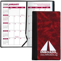 Custom imprinted Hard Cover Monthy Planner
