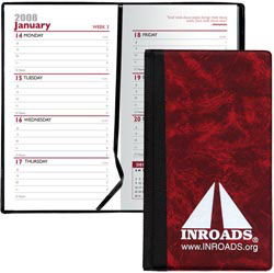 Custom imprinted Hard Cover Weekly Planner