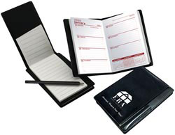 Custom imprinted Multi-Purpose Mini-Weekly Planner with Pad and Pen