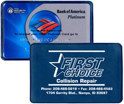 Custom imprinted Credit Card Sized Sleeve