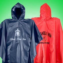 Custom imprinted Vinyl Rain Ponchos- Adult Size
