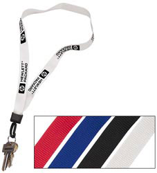 Custom imprinted 3/4 Inch Lanyard with Key Ring