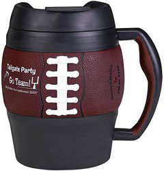 Custom imprinted Bubba Keg Football Mug - 52 oz.