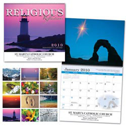 Custom imprinted Religious Reflections Wall Appointment Calendar