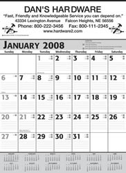 Custom imprinted Commercial Calendar - Grey & Black