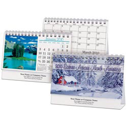Custom imprinted Scenes Across North America Desk Calendar