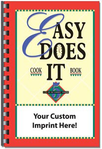 Custom imprinted Easy Does It Cookbook