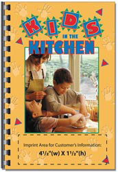 Custom imprinted Kids in the Kitchen Cookbook
