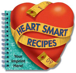 Custom imprinted Heart Smart Recipes Cookbook
