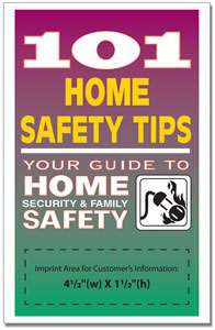 Custom imprinted 101 Home Safety Tips Book