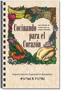 Custom imprinted Cooking for the Heart Cookbook- Spanish Version