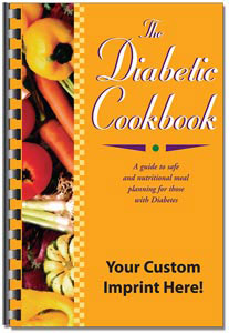Custom imprinted Diabetic Cookbook