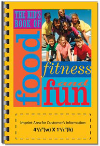 Custom imprinted Kid's Book of Food, Fitness and Fun