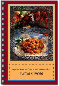 Custom imprinted Cajun Cooking Cookbook