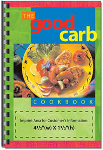 Custom imprinted Good Carb Cookbook