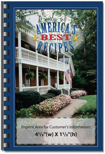 Custom imprinted America's Best Recipes Cookbook