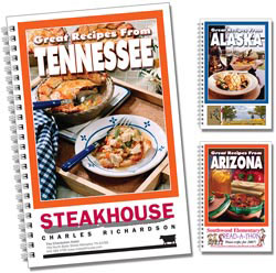 Custom imprinted State Cookbooks