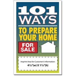 Custom imprinted 101 Ways To Prepare Your House For Sale Book