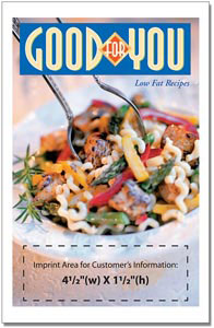 Custom imprinted Good for You! Cookbook
