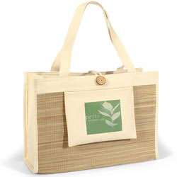 Custom imprinted Organic Spa Tote