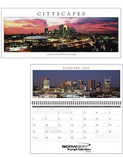 Custom imprinted Cityscapes Panoramic Calendar