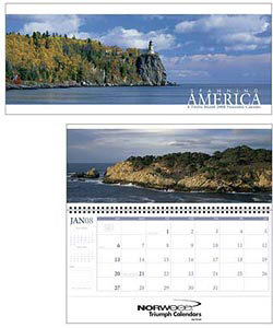 Custom imprinted Spanning America Panoramic Calendar