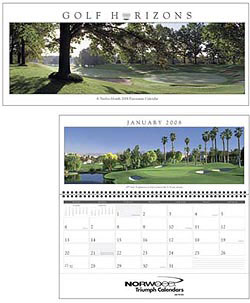Custom imprinted Golf Horizons Panoramic Calendar