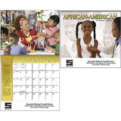 Custom imprinted African-American Everyday Heroes Calendar