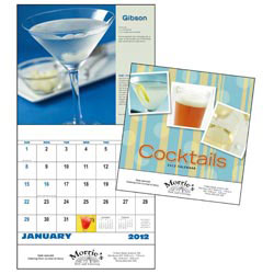 Custom imprinted Cocktails -13 Month Calendar